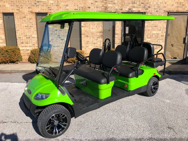 Lime Green Six Seater Golf Cart For Rent in Destin