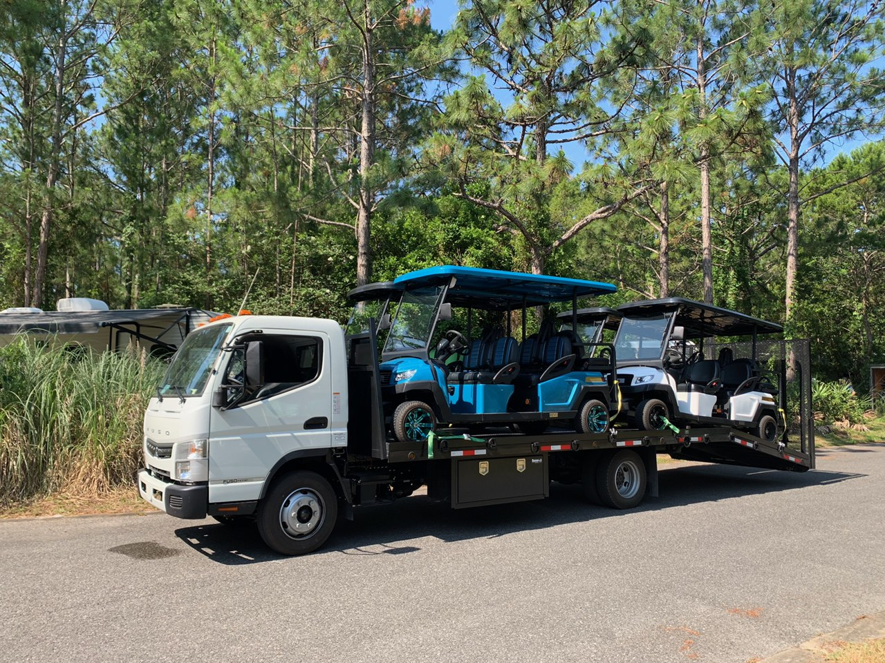 Four golf carts for rent in Destin Florida