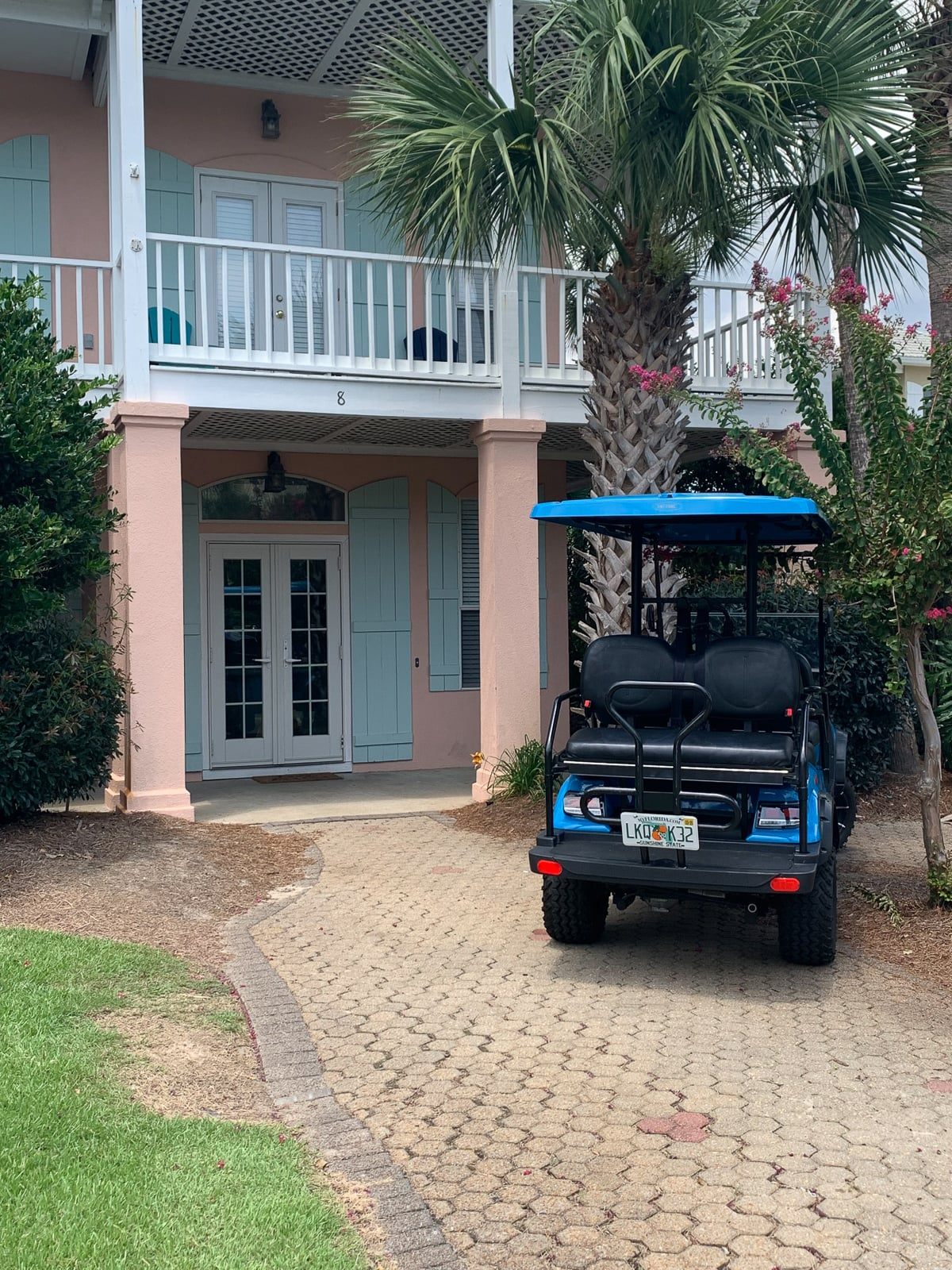 Lifted 6-Seater Electric Golf Cart at Emerald Shores on CR 30a